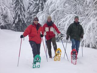 sneeuwwandelen in de Vogezen